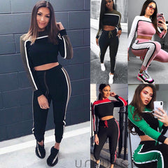 Casual Women's Tracksuit Tights Sportswear Fitness Suit For Female