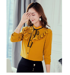 Women  Shirt Long Sleeve Shirtss and Women Streetwear Slim  Blouse