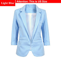 Ladies Plus Size Yellow Blazer Feminino