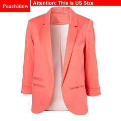 Ladies Plus Size Yellow Blazer Feminino - buydressonline