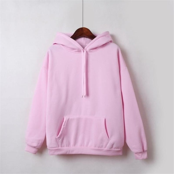 Hoodies For Girls Solid Color Hooded Tops Women's Sweatshirt