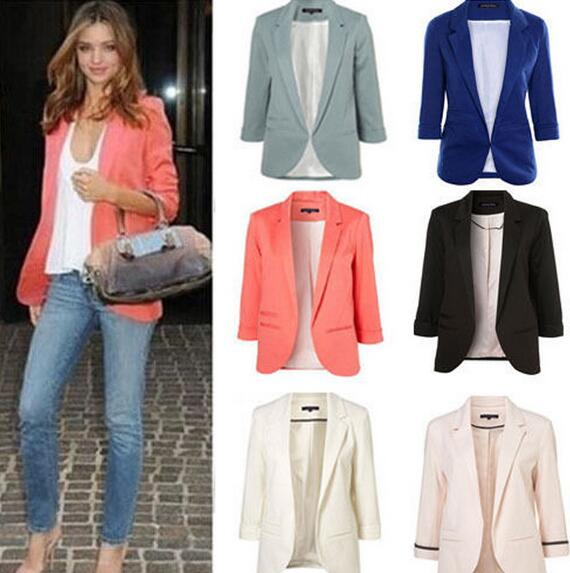 Small suit commuter models slim women blazers