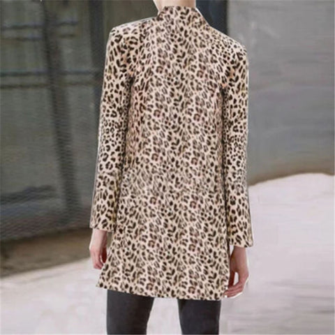 Fashion Women Leopard Print Blazer - buydressonline