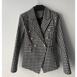 Runway Blazer Women's Double Breasted Lion Buttons