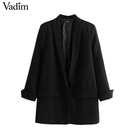 Women chic black red blazer - buydressonline