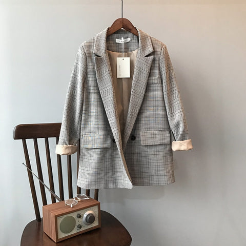 New Blazer Slim Korean Restore Plaid Suit - buydressonline