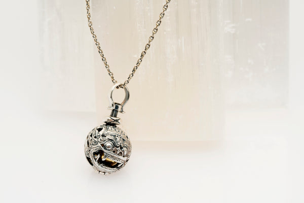 Barong Harmony Ball Necklace in Sterling Silver Chain