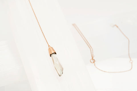 Rose Gold Swarosvki Pendant Necklace