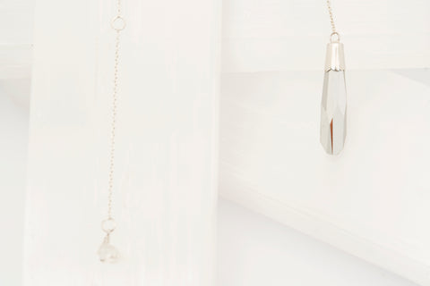 Sterling Silver Crystal Pendant Necklace