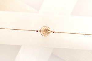 Rose Gold Shri Yantra Necklace