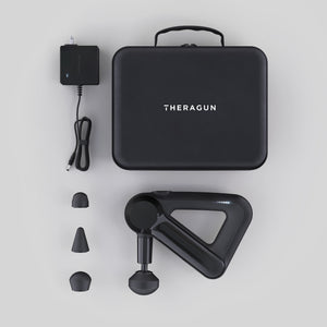 thergun g3 edition in black with attachments