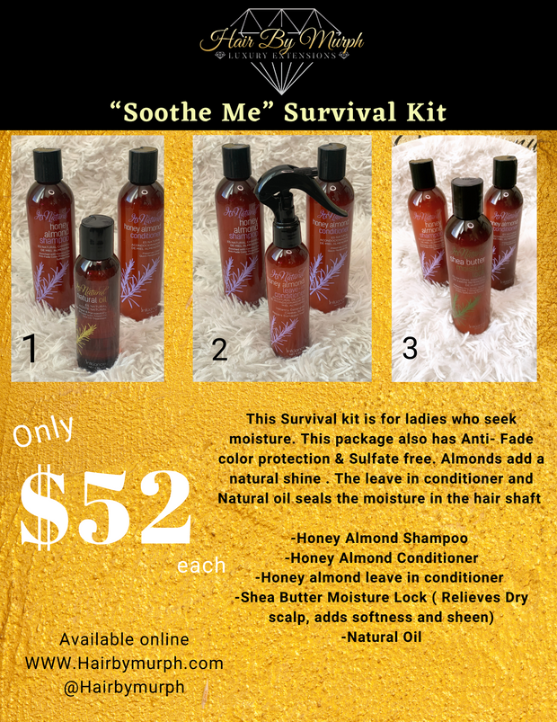 "HBM Honey Almond ""Soothe Me"" Kit - Hair by Murph"