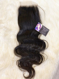 VIRGIN BODY WAVE LACE CLOSURE