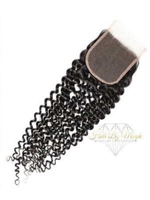 VIRGIN HAZEL CURL LACE CLOSURE