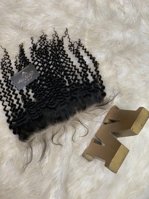 VIRGIN HAZEL CURL LACE FRONTAL