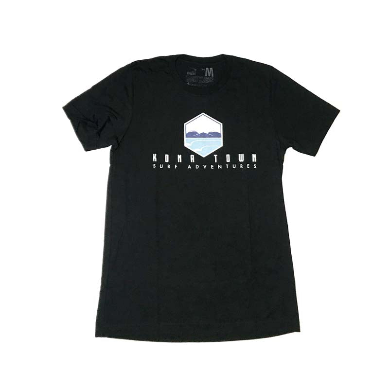 Kona Town Surf Adventures Logo Tee - Black