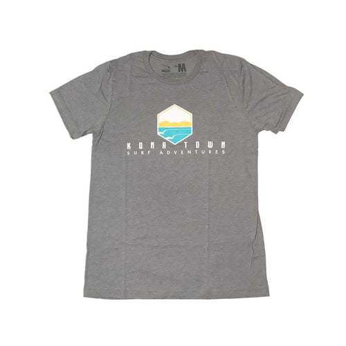 Kona Town Surf Adventures Logo Tee - Heather Grey