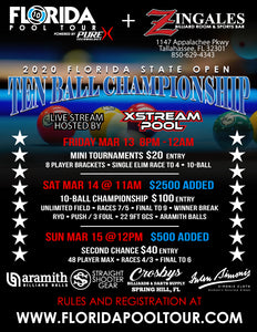 2020 FLORIDA STATE OPEN TEN BALL CHAMPIONSHIP