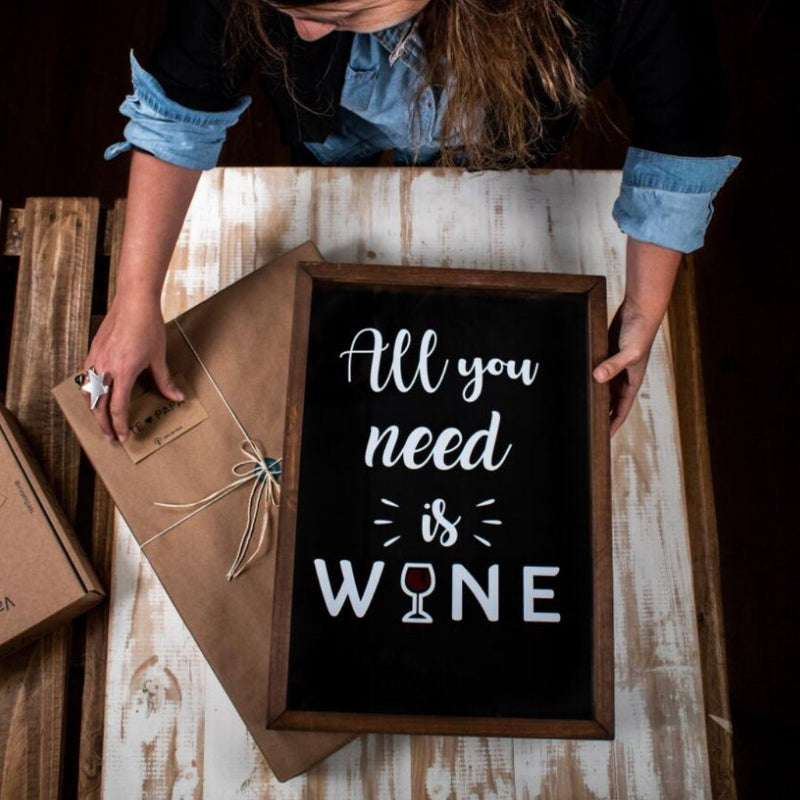 Cuadro de corcho All you need is wine