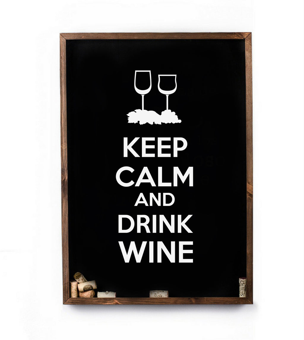 Cuadro de corcho Keep Calm And Drink Wine