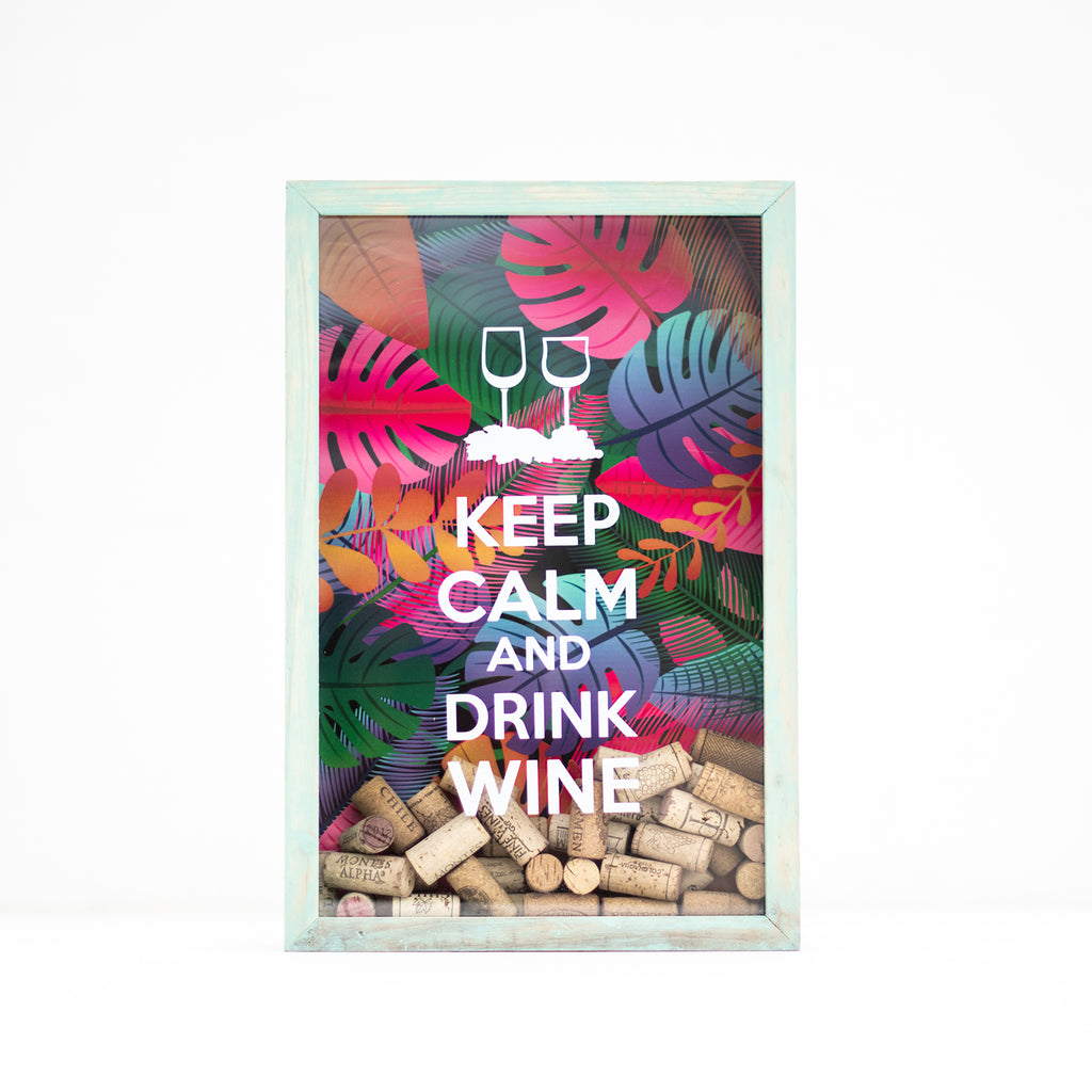 Cuadro para corchos - Keep Calm and Drink Wine