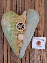 Load image into Gallery viewer, Laurie Pollpeter Eskenazi Ceramic Hanging Heart (Small)
