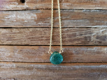 Load image into Gallery viewer, May Birthstone Gold-Filled Necklace (Emerald)