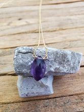 Load image into Gallery viewer, February Birthstone Gold-Filled Necklace (Amethyst)