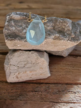 Load image into Gallery viewer, March Birthstone Gold-Filled Necklace (Aquamarine)