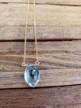 Load image into Gallery viewer, December Birthstone Gold-Filled Necklace (Blue Topaz)