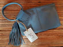 "Load image into Gallery viewer, HOBO ""Sable"" Wristlet in Dusty Blue"