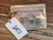 "Load image into Gallery viewer, HOBO ""Euro Slide"" Wallet in Distressed Gold"