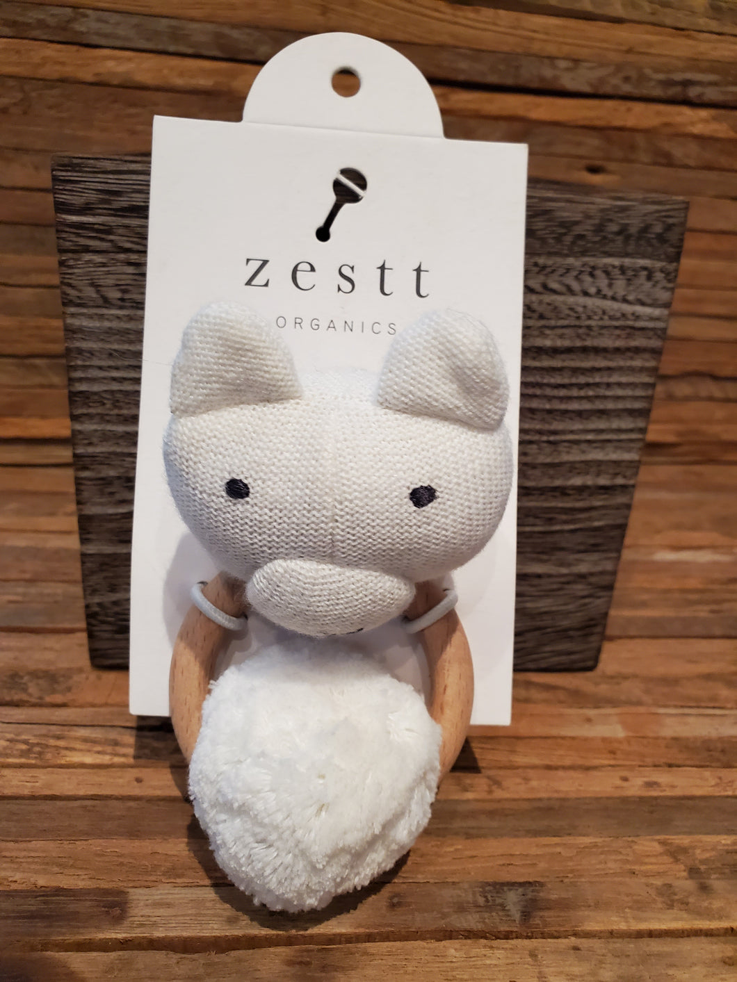 Zestt Organics Cotton Bear Rattle