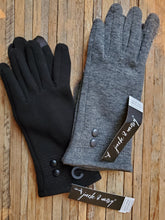 Load image into Gallery viewer, Double Button Fleece Gloves