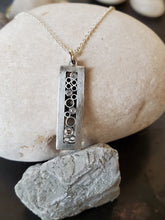 Load image into Gallery viewer, Belle Brooke Luz Sterling Silver Rectangle Diamond Necklace