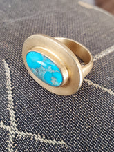 Load image into Gallery viewer, Turquoise Vermeil Ring