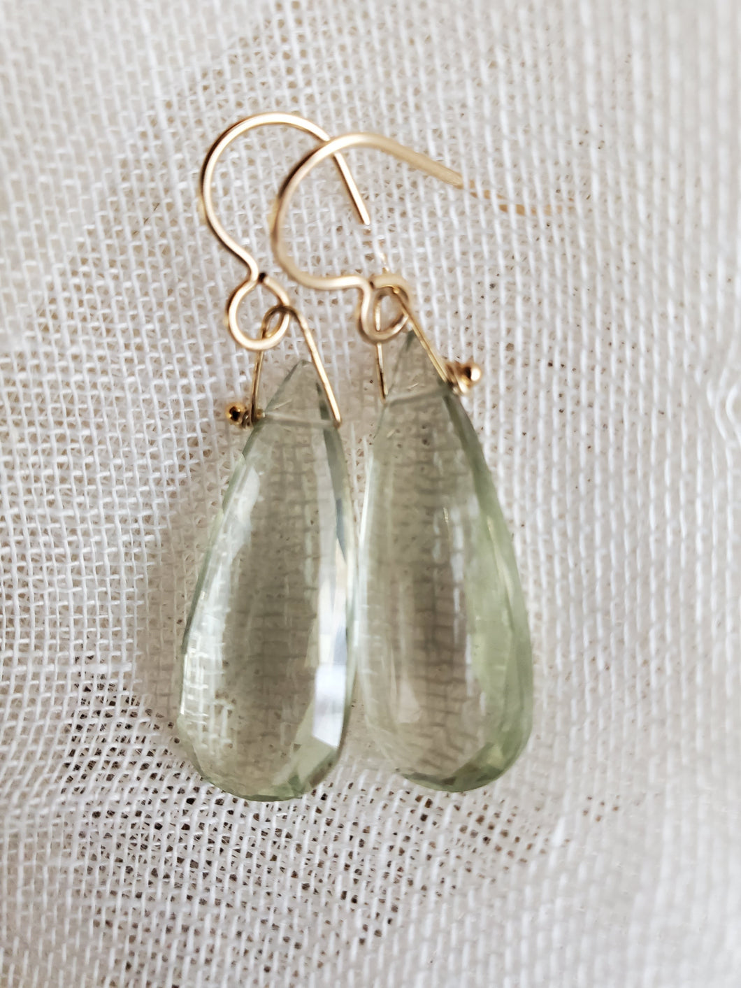 Simon & LuLu Green Amethyst Earrings