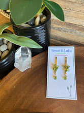 Load image into Gallery viewer, Simon & Lulu Wire-Wrapped Vesuvianite Earrings