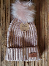 Load image into Gallery viewer, Metallic Glacier Knit Pom Hat