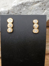 Load image into Gallery viewer, Rebecca Overmann 14K Diamond Bubble Studs