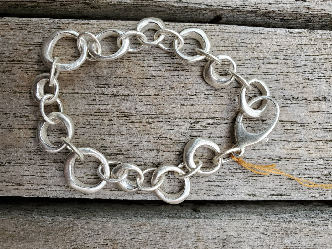 Philippa Roberts Sterling Silver Chain Link Bracelet.