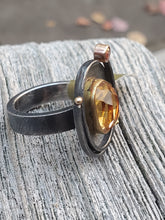 Load image into Gallery viewer, Sydney Lynch 18K/22K Gold Oxidized Sterling Silver Citrine Ring