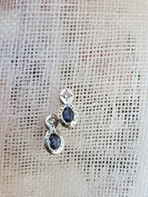 Load image into Gallery viewer, Adel Chefridi Oval & Round Sapphire/Diamond Studs