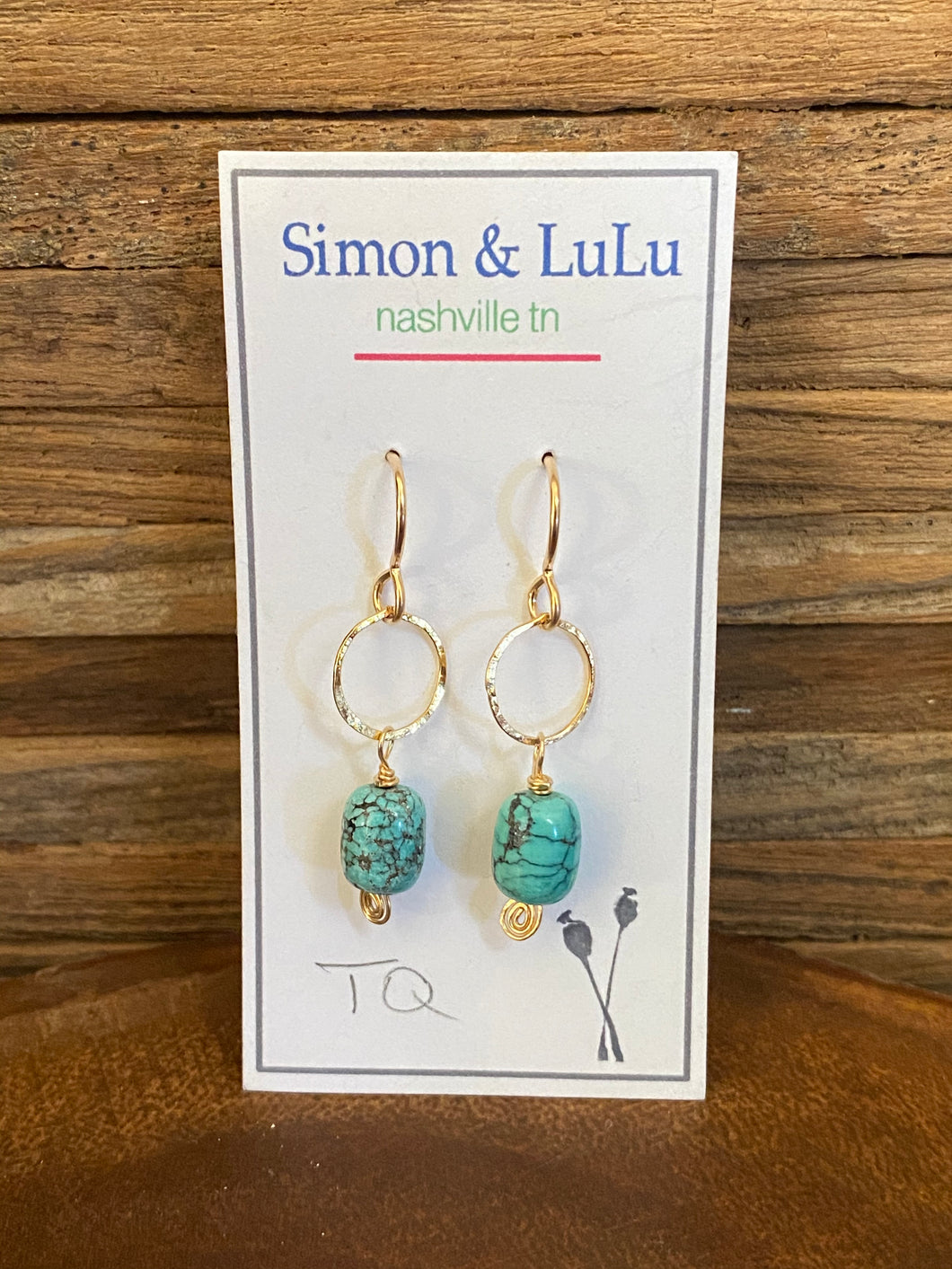 Simon & Lulu Small Turquoise Earrings