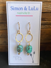 Load image into Gallery viewer, Simon & Lulu Small Turquoise Earrings