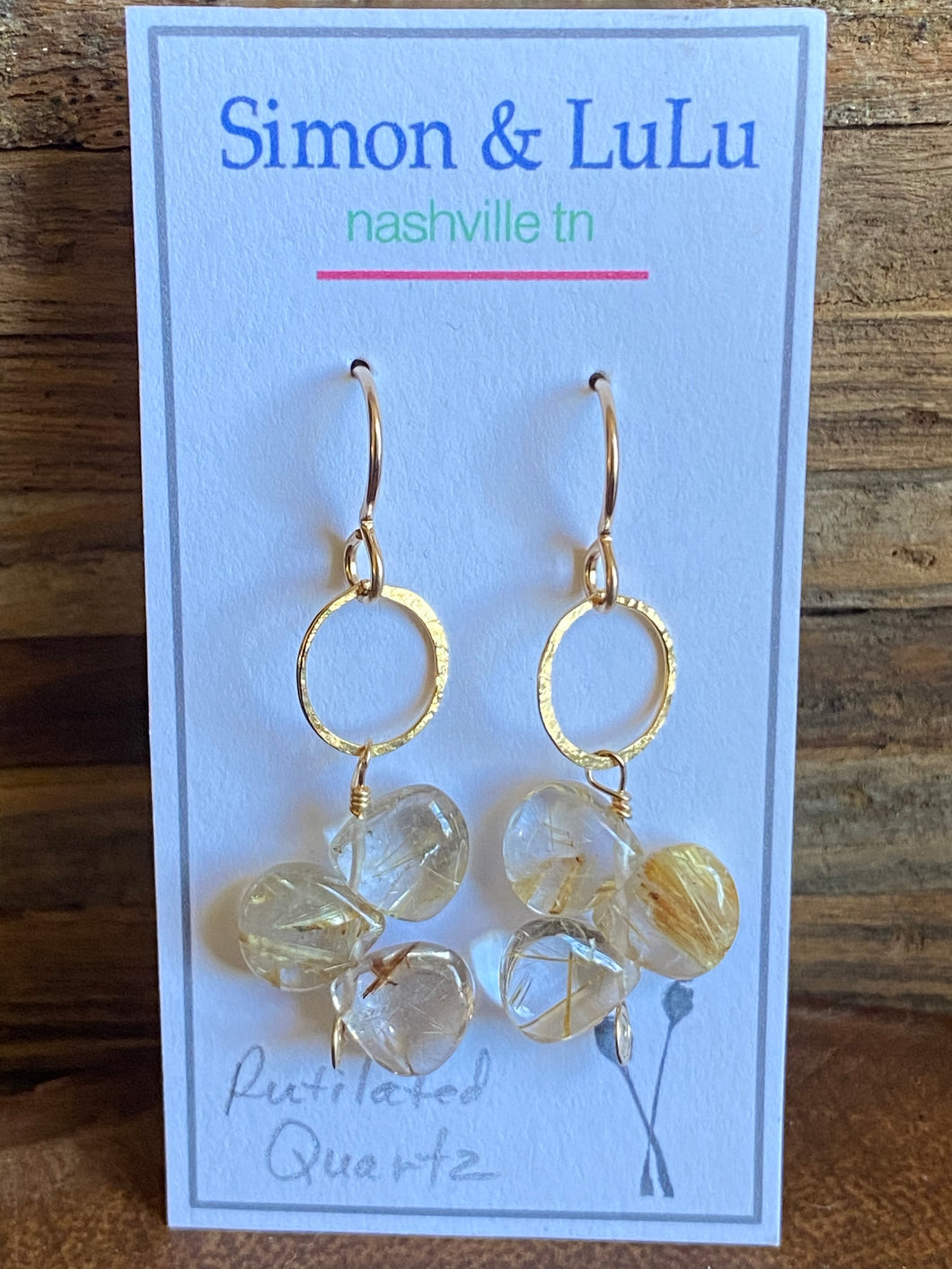 Simon & Lulu Rutilated Quartz Earrings