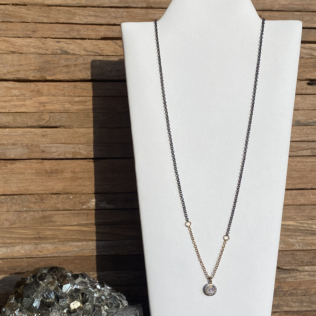 Kate Maller Pebble 18K Gold Diamond Necklace
