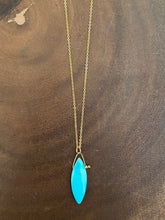 Load image into Gallery viewer, Simon & Lulu Marquis-Shaped Sleeping Beauty Turquoise Necklace