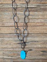 Load image into Gallery viewer, Simon & Lulu Turquoise Large-Link Chain Necklace