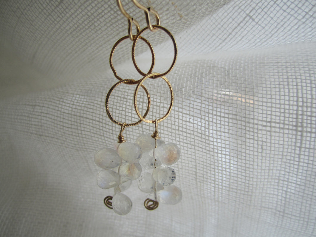 Simon & LuLu Rainbow Moonstone Gold-Filled Earrings